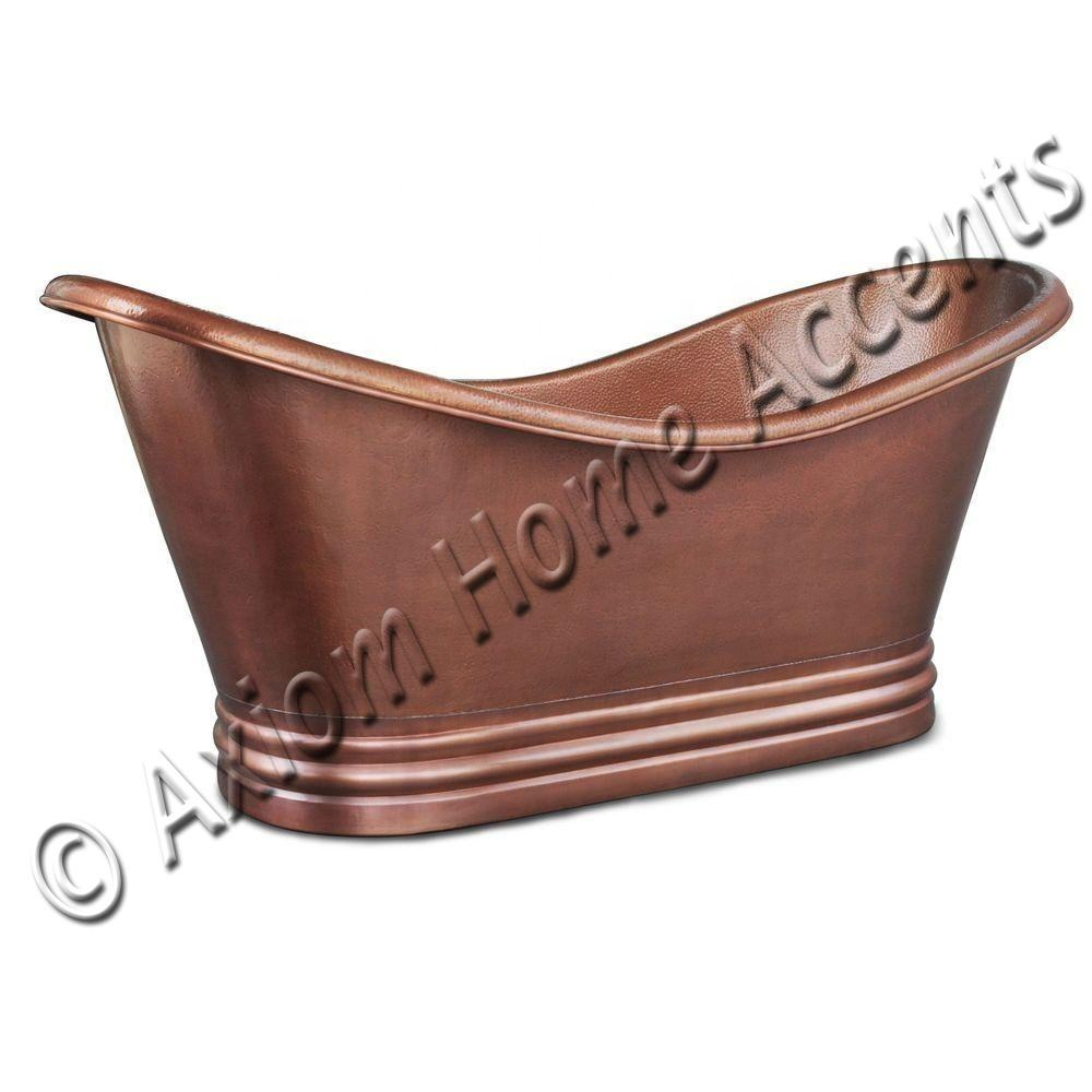 Factory Direct High Quality Copper Bathtub Cast Iron Bathtub Freestanding Bathtub Hammered And Antique Finished