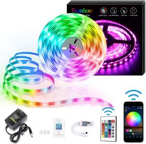 5050 3528 12 V 24 V IR/Blueteeth/WIFI/music sensing intelligent remote flexible RGB waterproof landing LED strip lights