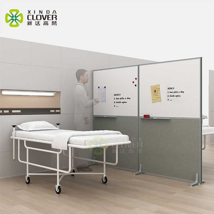 Infectious diseases barrier property movable medical room divider screen for hospital partition