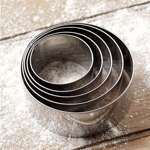 8 Pcs Baking Tools Stainless Steel Adjustable Cake Mold Round Pastry Cake Mousse Ring