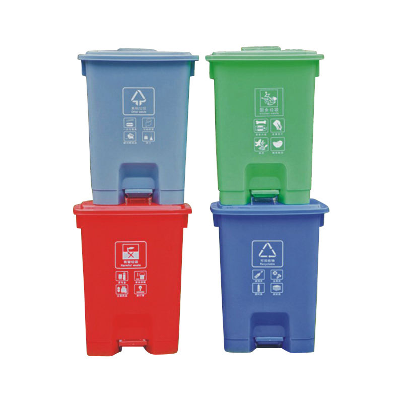 food trash can acrylic trash can with tissue box round plastic wastebasket for Medical trash can