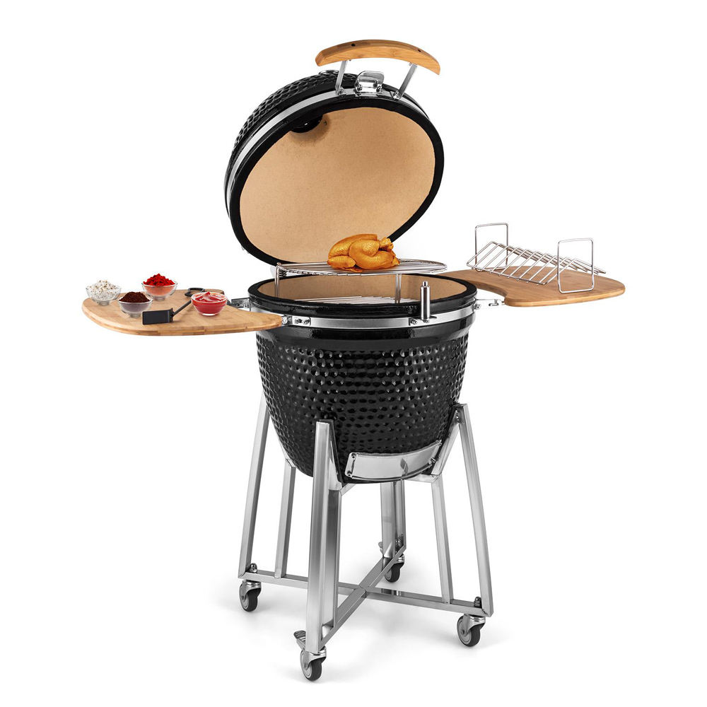 SEB KAMADO Big Green Black Steel Egg Ceramic BBQ Charcoal Barbeque / Barbecue Grill