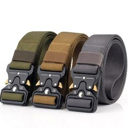 Custom Adjustable Police Man Combat Duty Outdoor Nylon Webbing Army Military Tactical Belt