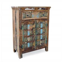 Impeccable Brass Finish Cabinet Indian Furniture Antique