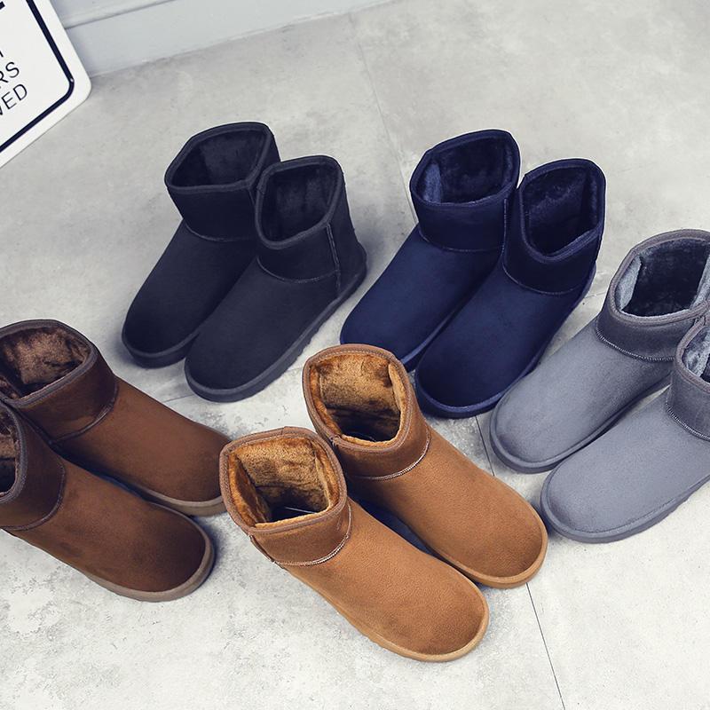 Wholesale Classic men women Snow Boots House Suede leather Faux Fur lining plus Ankle Winter Warm Boots shoes
