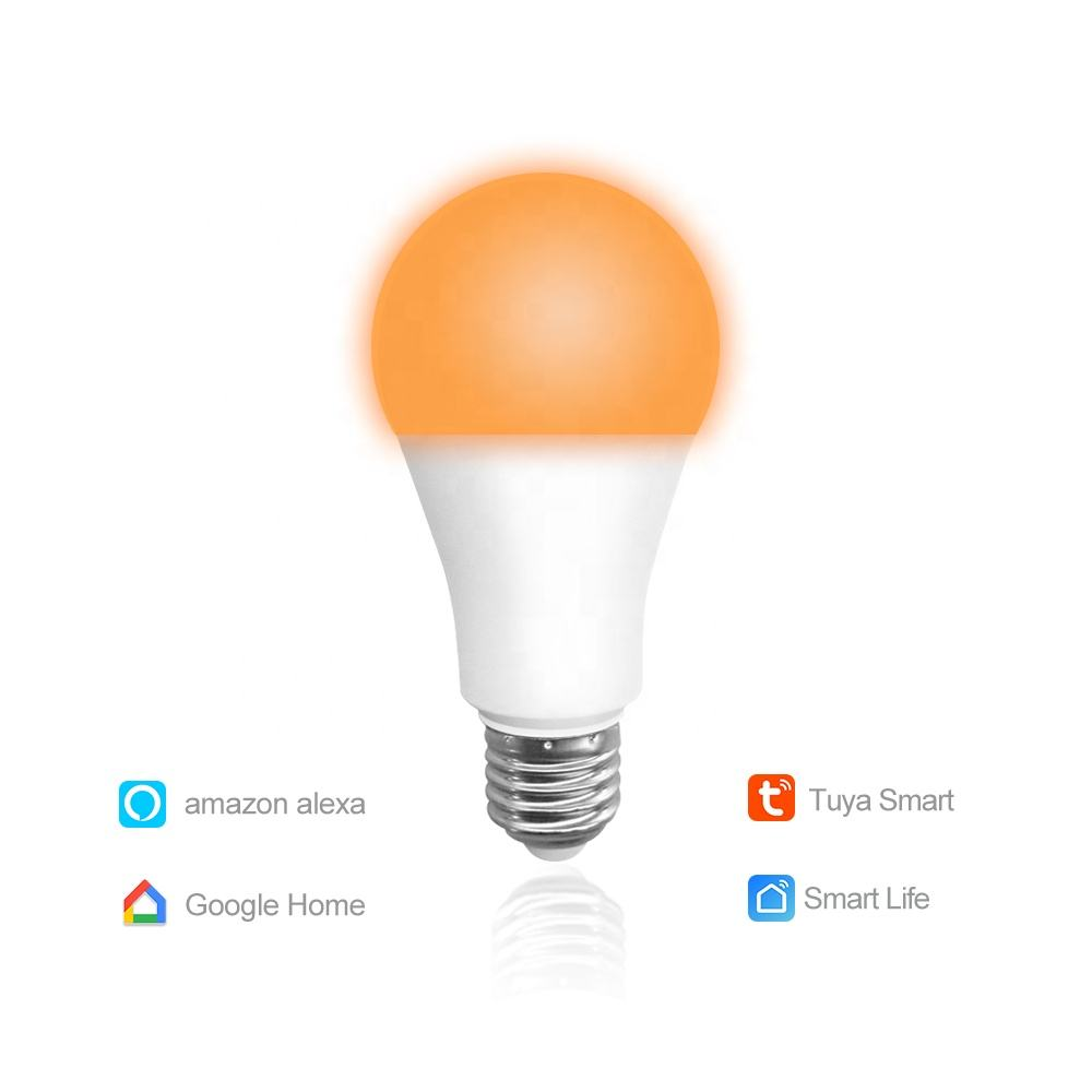 Custom Design 9W E26 E27 B22 Home Dimmable Wifi Smart Led Light Bulb A60 Led Smart Lamp Compatible with Alexa Google