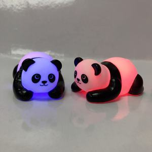 Wholesale Light Up Floating Rubber Panda Bath Toy