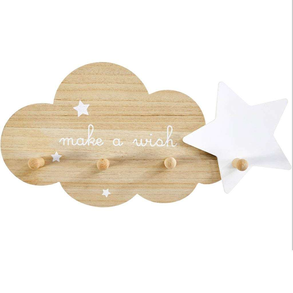 Nursery or Bedroom decorative toy Kids Gifts Cloud Ornament Coat Hook Wall Hooks