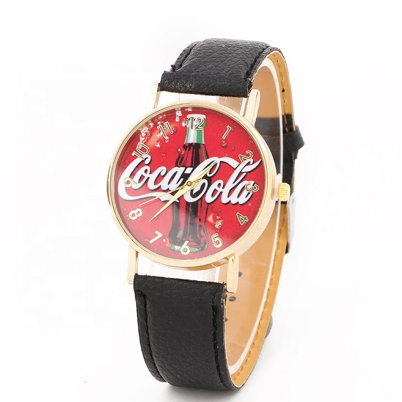 Hot Promotion Price Couple Gift Watch Leather Cola Dial Casual Wrist Watch For Student LW238