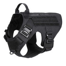 Tactical Military Police Service Big Dog Pet Vest No Pulling Buckle Training Dog Harness