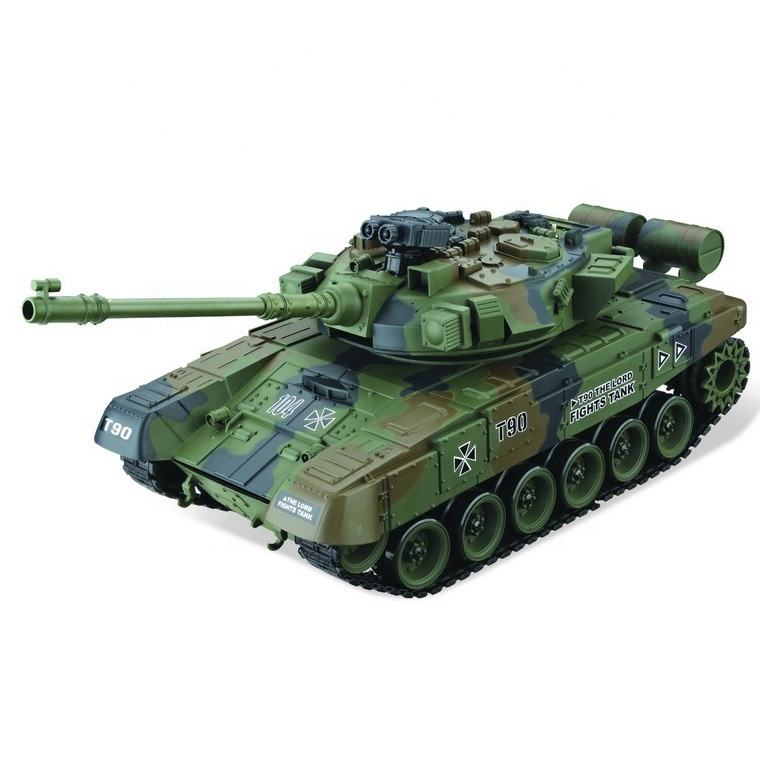 Electric remote control tank projectile large tank Russian T90 military model toy car