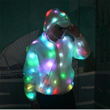 NEW LED Luminous jacket Dance Show Nightclub Clothes DJ Costumes Christmas Halloween Party Cospaly Suit