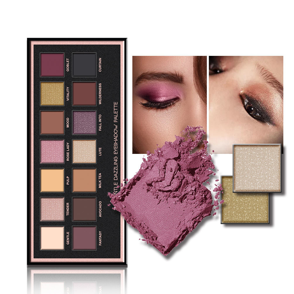 High Pigment Customize Your Own Brand Makeup Private Label Custom Bright Glitter Eye Shadow palette