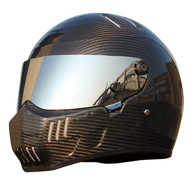 New Design Wholesale China OEM Service Carbon Fiber Cover Custom Motorcycle Helmet Men 2019