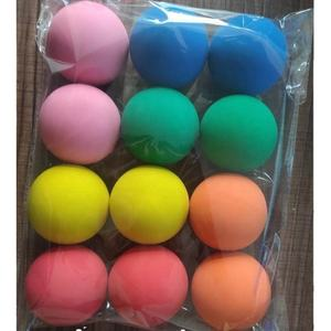 Supplier Logo Printing Custom 6CM 60MM dog pet toy child high hi bounce hollow rubber bouncy bouncing ball training squash ball