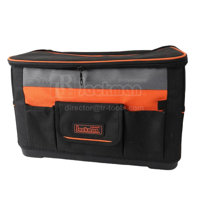 Jackman JKB-87715 water resistant hard bottom tool case technician tool bag too carrier organizer