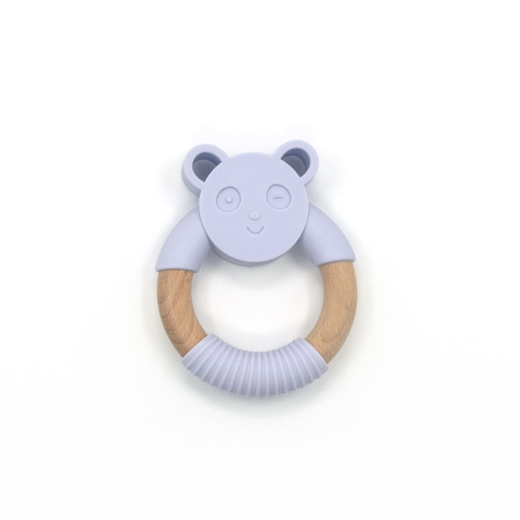 2020 Hot Wholesale BPA Free Non-Toxic Panda Shape Baby Teething Toys