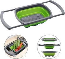 The Sink Vegetable/Fruit Colanders Strainers Colander collapsible With Extendable Handles
