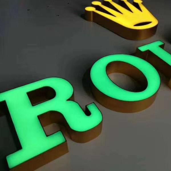 A todo color al aire libre iluminación señalización de acrílico de hotel logotipo signo carta