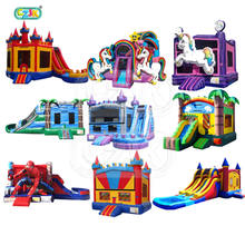commercial moon moonwalk inflatable bouncy castle bouncer bounce house with clearance