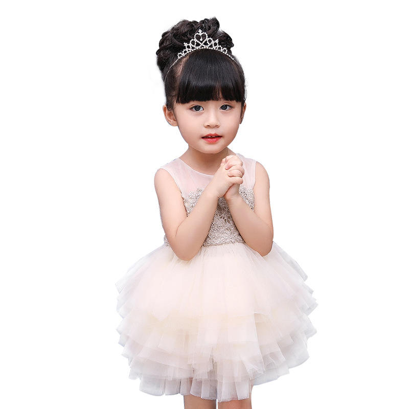 New design infant Kids Clothing flower girl dress Ruffle baby frock design L1913XZ