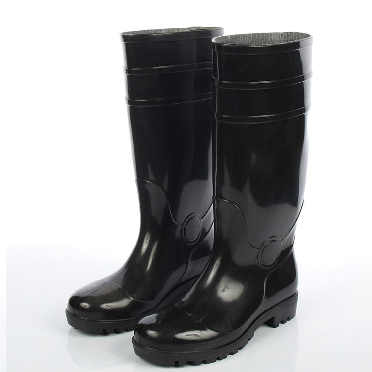 High Quality Wholesale Safety Pvc Yellow Waterproof Work Rain Rubber Boots