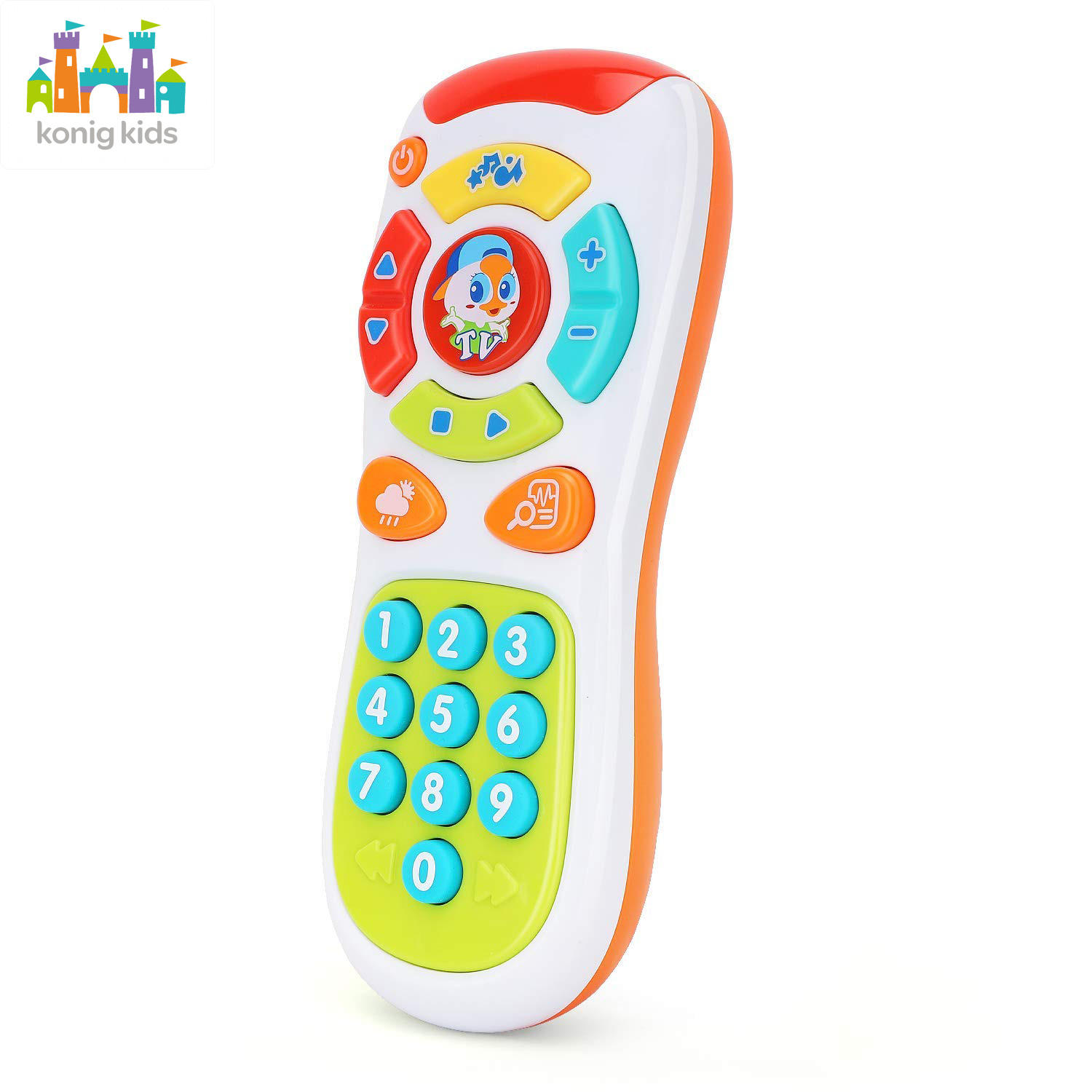 Konig Kids Plastic Music Remote Toy Baby Mobile Phone Control Toys