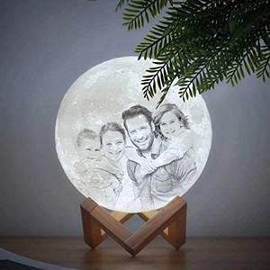 OEM&ODM Custom Moon Lamp Plus Photo Text Letters Moon Lamp Night Table 3D gift box Toy And Other Two-color