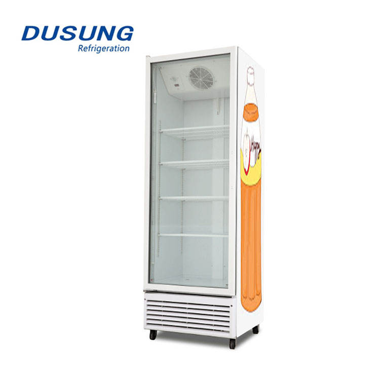 Single door display cooler new style upright glass door mini refrigerator beverage drink display chiller