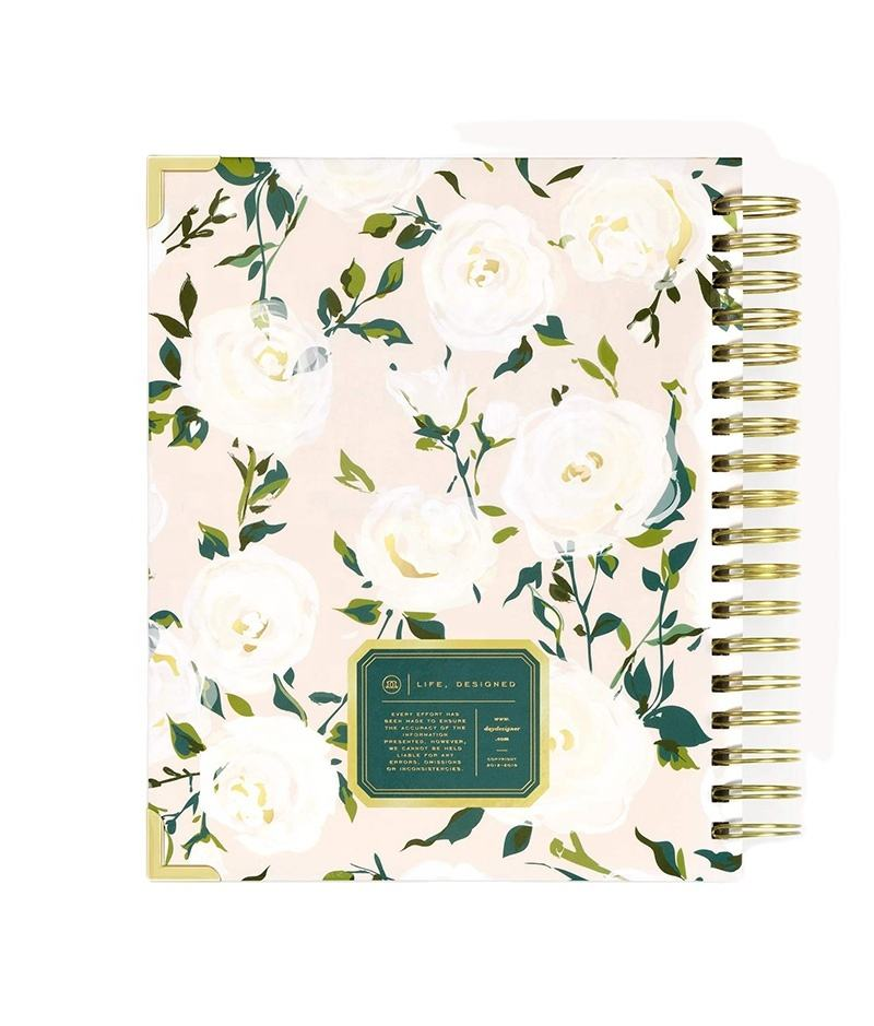 Custom printing daily planner 8.5*11inch organizer with myer tabs journal