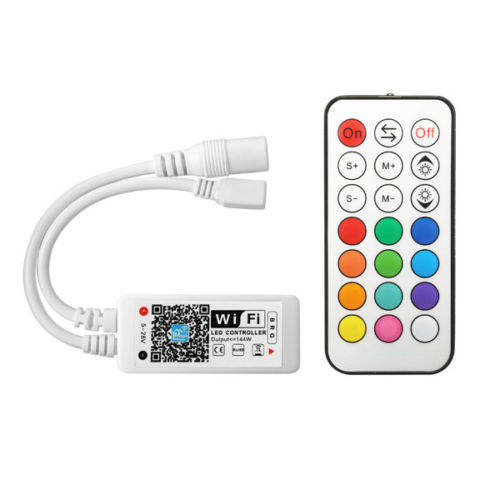WiFi Wireless LED Smart Controller Android IOS Mobile Phone App for RGB RGBW LED Light Strips 5050 LEDs 5V 12V Remote Control