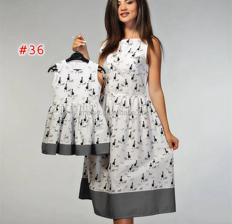 Wholesale Retail mother daughter matching dress family mother daughter dresses 60styles choose free