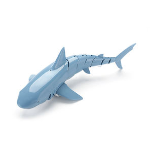 2020 new small plastic toy remote control inflatable shark growing in water animals toys shark swimming pool inflatable outdoor