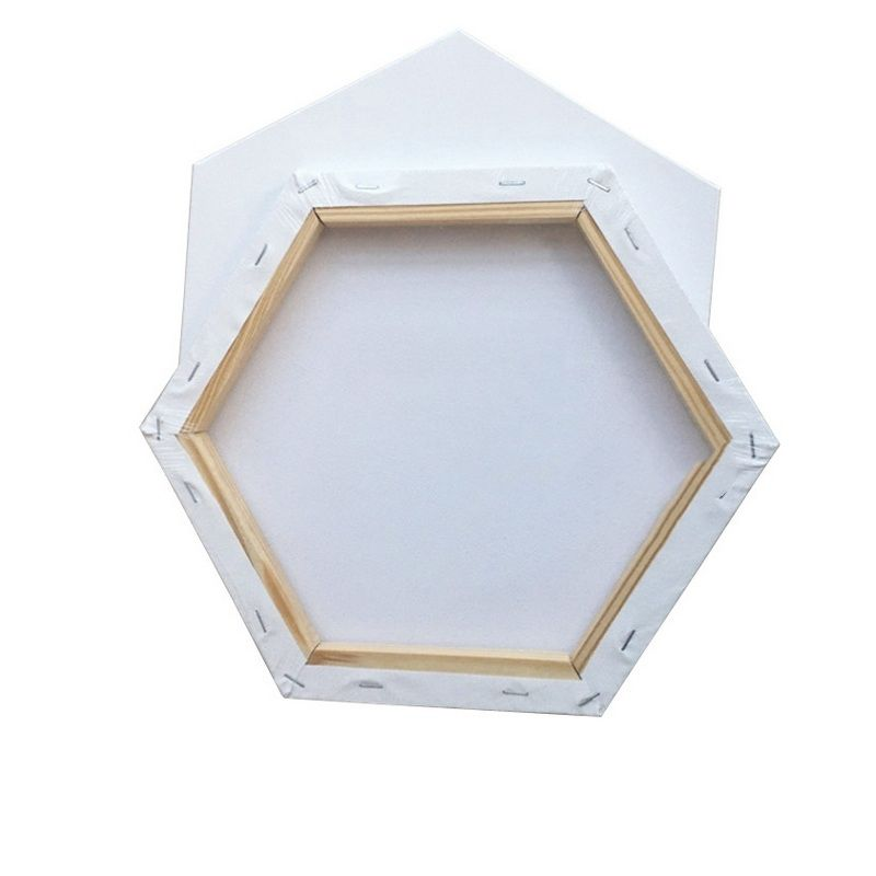 Hexagon Shape Canvas Frame Wood Structure Cotton Canvas for Art Painting