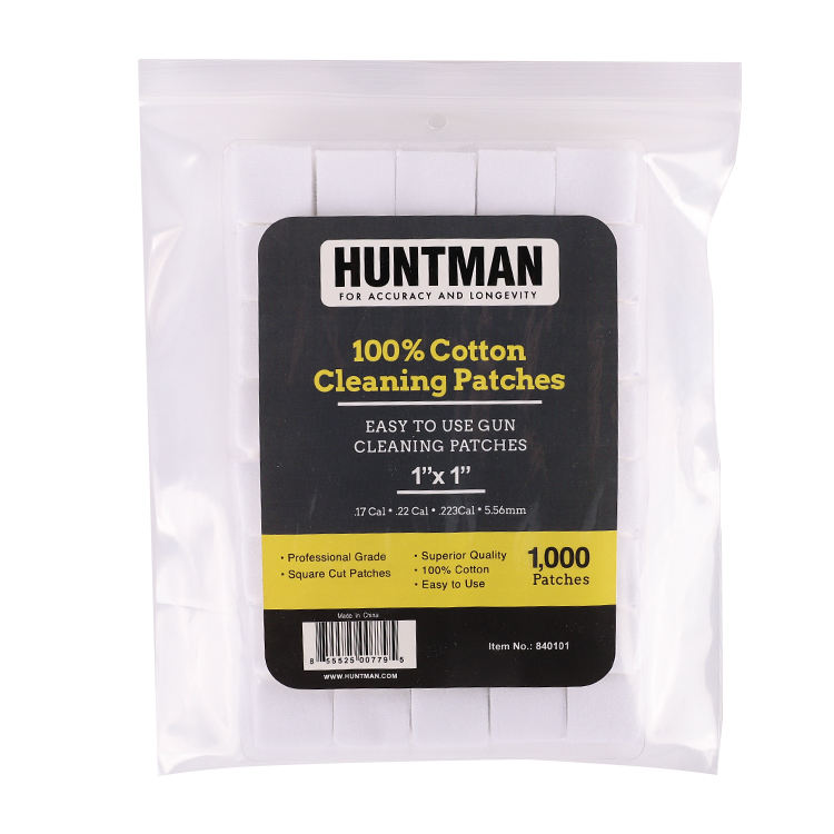 High Quality Square Cotton Premium Gun Cleaning Patch