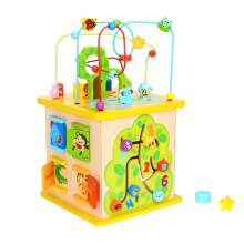 Hot sell baby kids wooden activity cube wooden toys educational