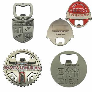 Oneway Manufacturer New Customized Metal Acrylic Wooden Magnetic BeerWine Bottle Opener Keychain