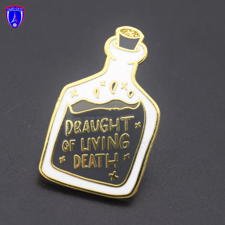 OEM Draught of Living Dead bulk enamel pin gold plated zinc alloy lapel pin New year gifts for wholesale