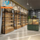 OEM Customized Food Stores Wooden Bakery Display Shelves