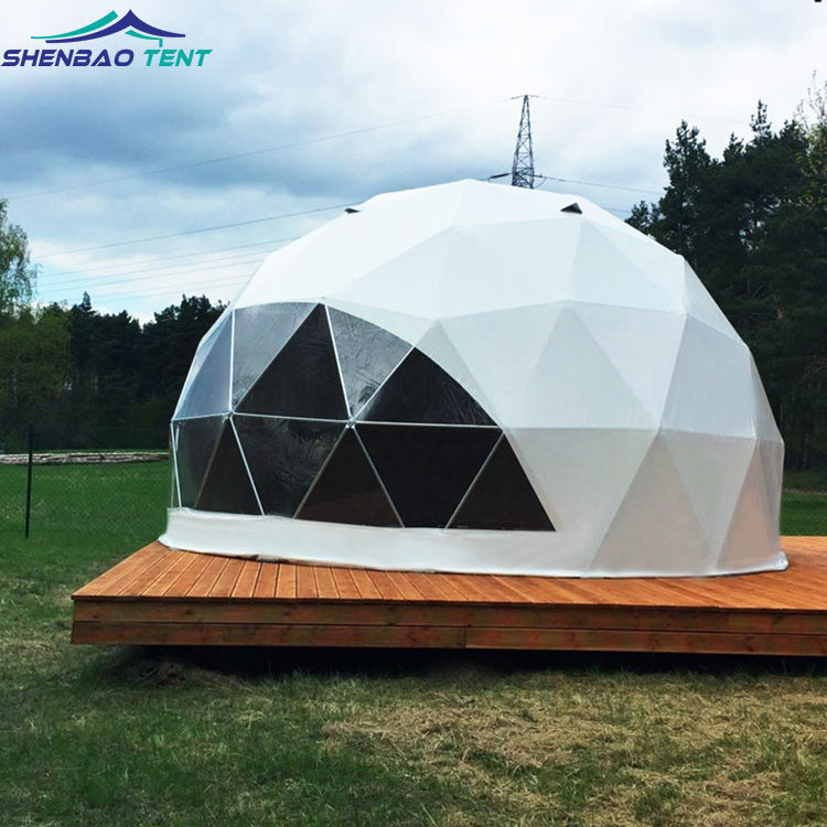 Customized luxury pvc glamping igloo dome house geodesic dome tent