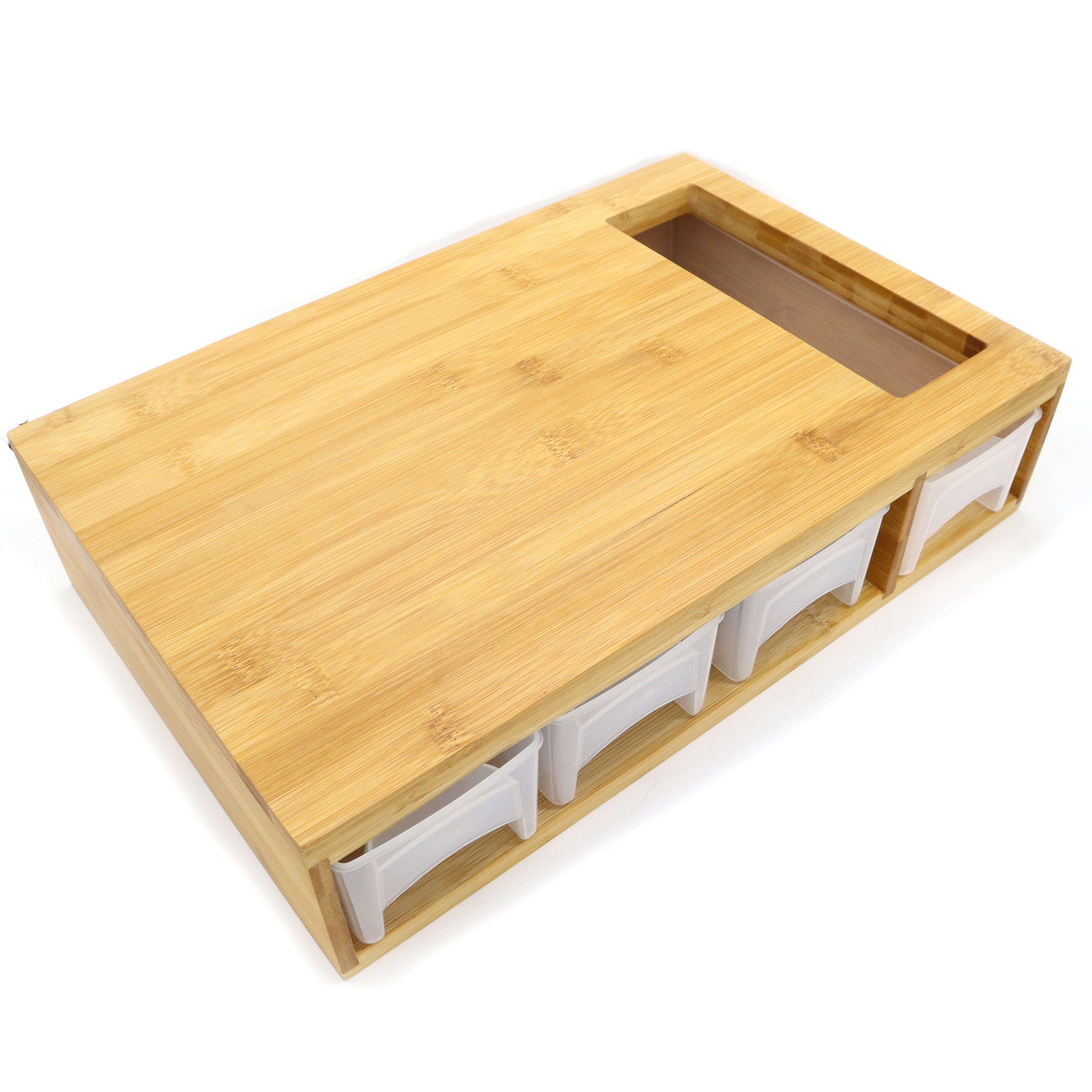 Multi-Functional Premium Bamboo Cutting Board with Containers environmentally