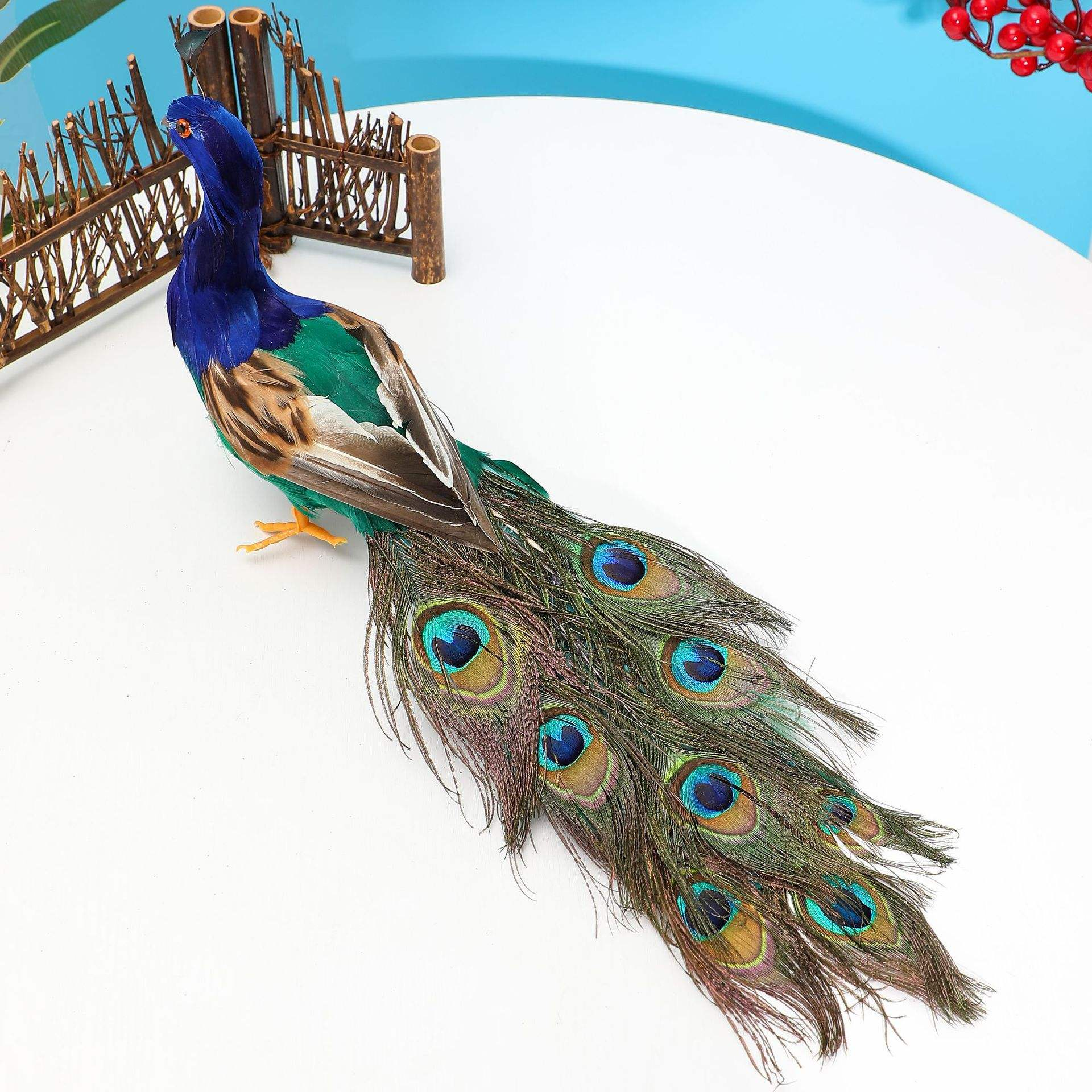 Factory Supply Craft Peacock Wholesale Art Decoration Peacock