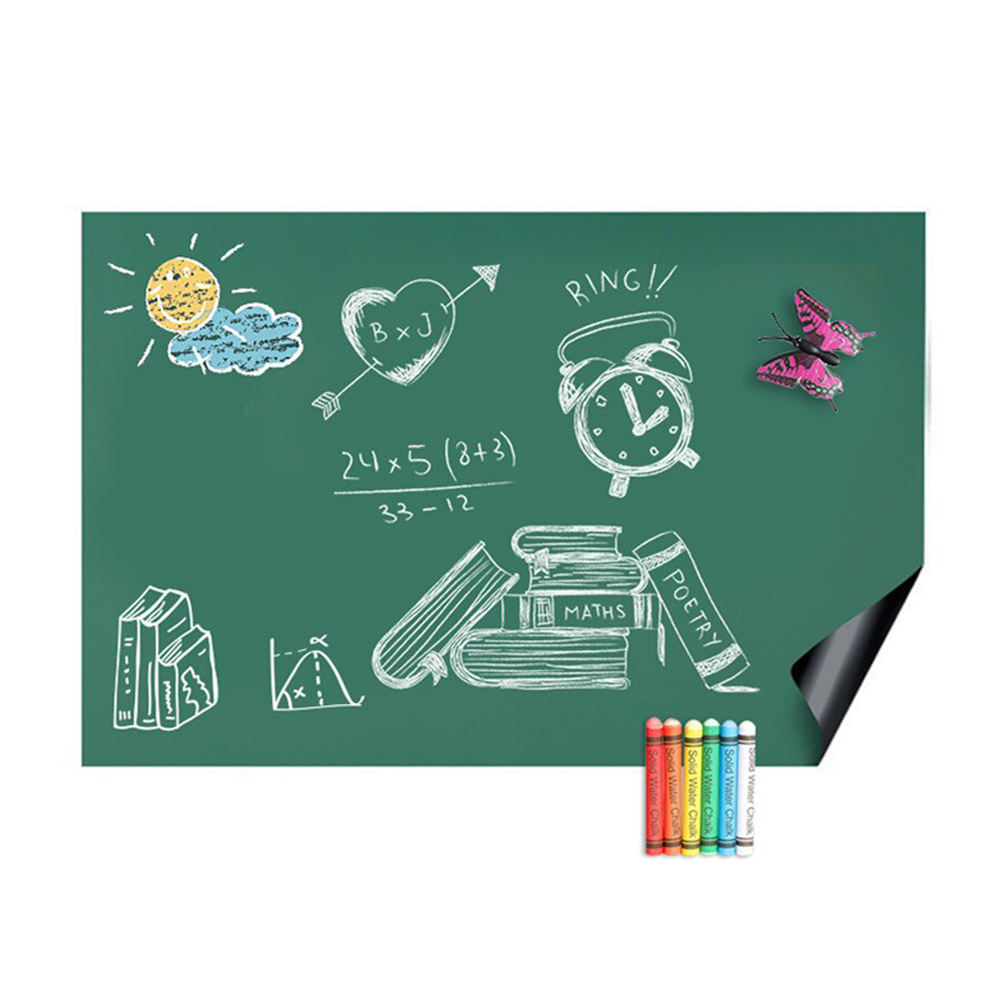Blackboard Magnetic Chalk Writing Green Board