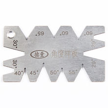 20 to 65 degree Inspection stainless steel screw thread Angle gauge gauge of drill Angle Gage degree gauge