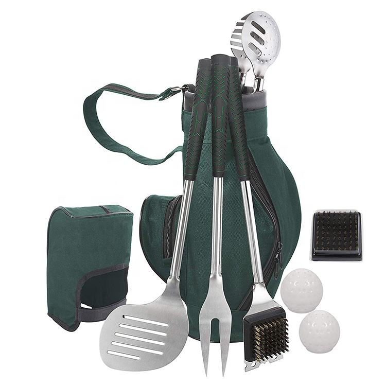 Club di Golf Completo-Stile Grigliate Accessori Golf Bbq Set con Lungo Resistente Al Calore Grip per Una Perfetta Set di Strumenti Bbq regalo