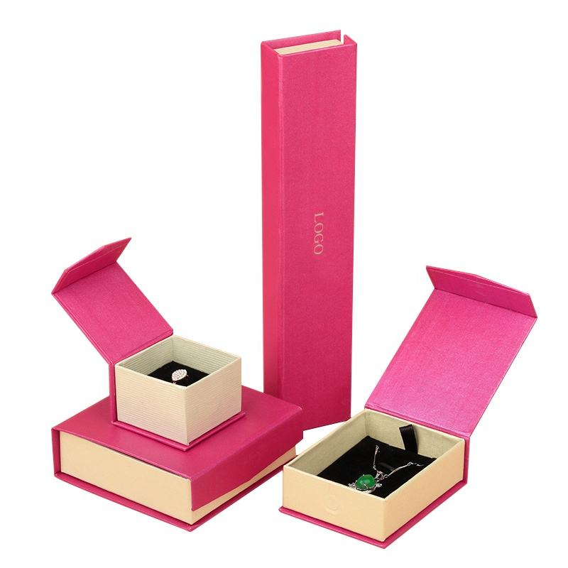 A Set of Packaging Jewelry Boxes Various Size Magnet Strip Paper Box Gift