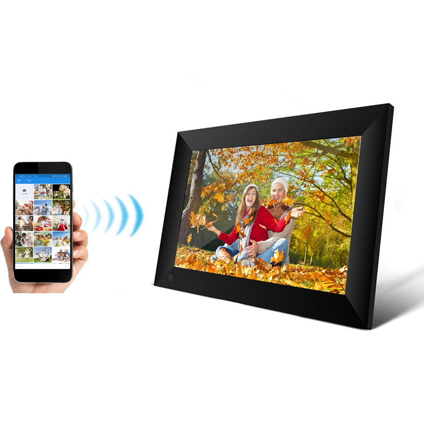 2021 IPS touch screen Android wifi digital picture frame 10 inch digit cloud photo frame review