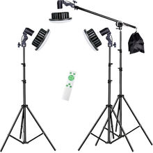 2020 Wholesale Photographic Lighting Photo Studio 150W led Lamp Bulbkit With Light Stand & Boom Stand