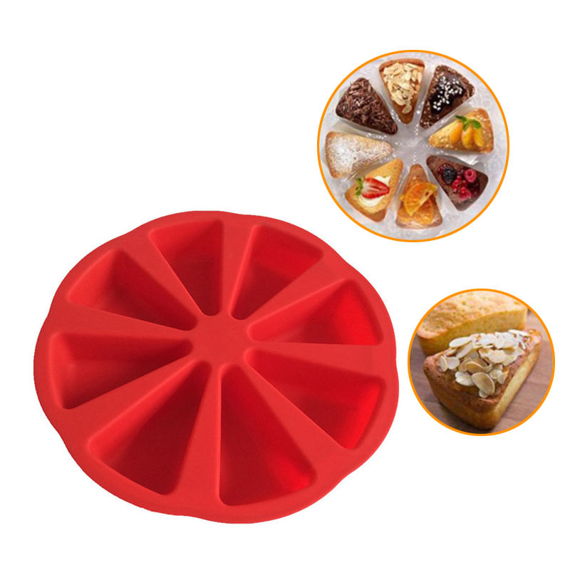 Bakeware Molds Cake Pan Silicone Cake Mold Pudding Triangle Cakes Mould Muffin Baking Tools Fondant Cake mold