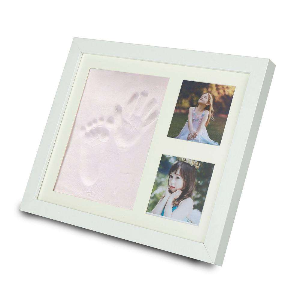 Amazon 2020 New Style Baby 12 Month First Year Photo Frame Handprint Footprint Keepsake Kit